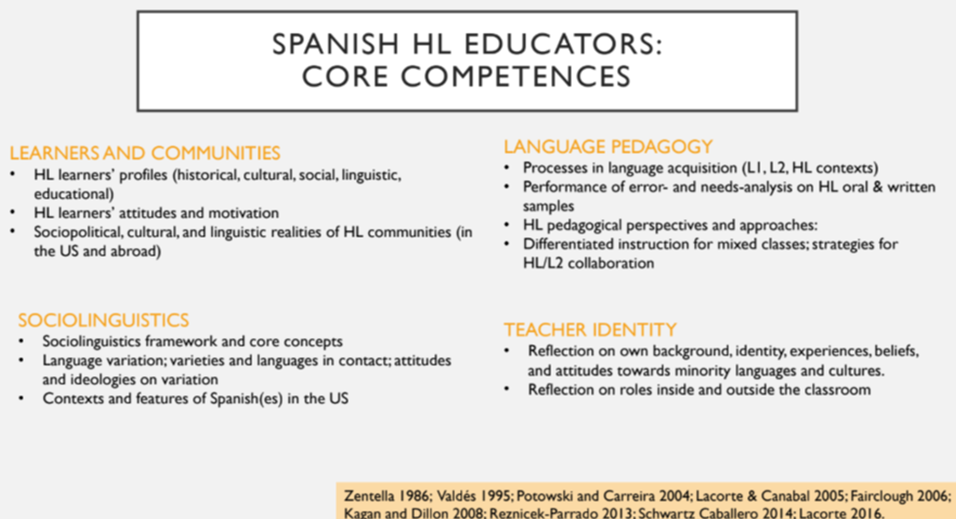 HL teacher competencies