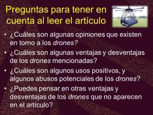 5-21 preguntas about drones